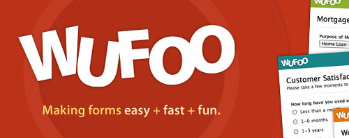 Screenshot of Wufoo Home Page