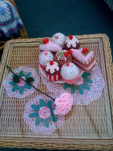 Crocheted Carnation.