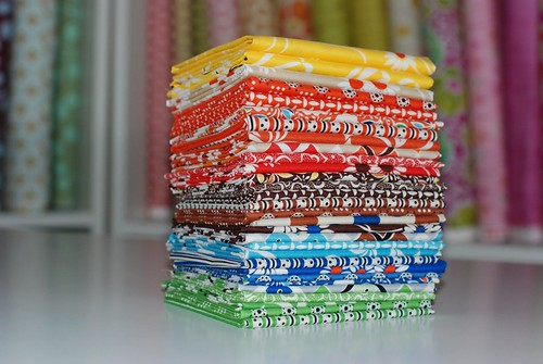 Stack of Giveaway Fabric