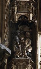 Geel, Vlaanderen, St.-Dimpnakerk, passion altar, border carving (groenling) Tags: wood jesus carving altar be passion geel hout woodcarving flanders kempen vlaanderen passie altaar houtsnijwerk snijwerk passiealtaar passionaltar stdimpnakerk