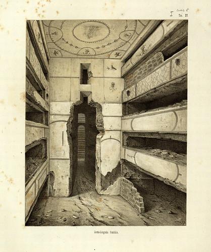 004- Escena de un cubiculo-La Roma sotterranea cristiana - © Universitätsbibliothek Heidelberg