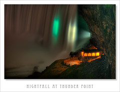 Nightfall at Thunder Point (Light Forger) Tags: light ontario canada nature water beauty station observation point waterfall nikon view awesome lookout niagra falls deck waterfalls observe vista d200 thunder hdr beautifull nightfall powerfull forger photomatix at