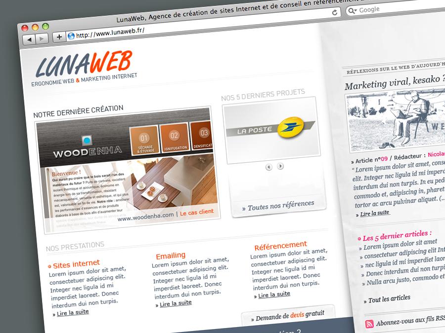 LunaWeb, la refonte : premier test en Aout 2008