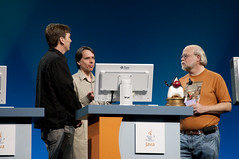"Sam Birney, Van Mittal-Hankle and James Gosling, General Session ""The Toy Show"" on June 5, JavaOne 2009 San Francisco"