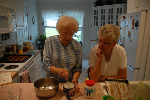rita and grammy making whoopie pies
