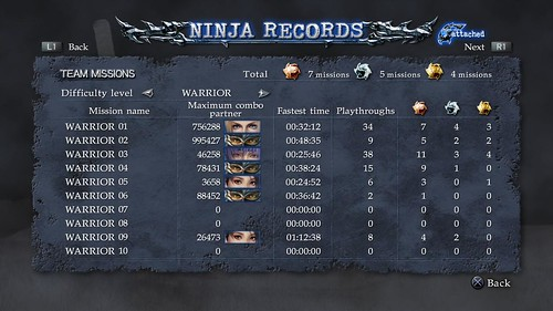 Ninja Gaiden Ninja Gaiden Sigma 2 Records Screenshot 3