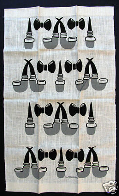 Marushka - pipes and bowties - dishtowel