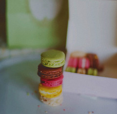 Colorfulness... (azyalg { Little Twinkles Photography }) Tags: pink paris green film colors yellow colorful desert sweet chocolate az macaroon sweetness laduree aziza azyalg