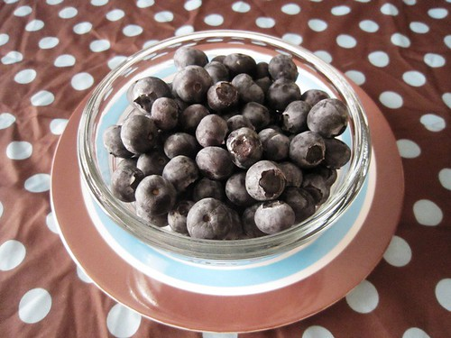 Bowl of blueberries, take one