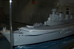 Model of an aircraft carrier at Fleet Air Arm Museum