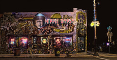 Hippie Gypsy (Jim Purcell) Tags: longexposure summer arizona usa streetart art retail night digital photoshop mediumformat graffiti evening lowlight downtown cityscape seasons counter pentax tucson citylife bestviewedlarge az business photograph commercial hippie summertime nightlife reggae hdr highdynamicrange collegiate universityofarizona topaz lightroom 4thave postprocessing fourthavenue spraypaintart photomatix photomechanic tonemapping alternativeculture pimacounty tucsonphotographer pentax645d smcpentaxa45mm28