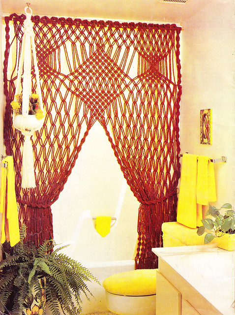 Foxy Lady Bath Swag - Macrame Moods 1976