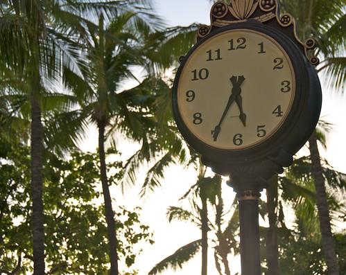 Clock in Waikiki