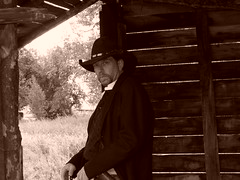 JUST LOOKIN>>>> (gus45colt) Tags: horses cowboys cowboy guns shooting otw