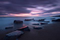 Pink rock (Chris Hammerton) Tags: uk longexposure southwales wales night landscape dusk olympus portfolio ogmore bristolchannel ogmorebysea e330 shortlist glamorganheritagecoast britishseascapes workcalendar valeofgalmorgan