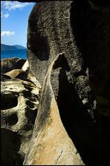 rockslice (abandonnship) Tags: sea black mountains color beach nature contrast outdoors rocks edge bvi virgingorda thebaths tortola09