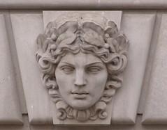 Limestone Mascaron, Female, EPA Building, Washington, D.C. (hummakuvula) Tags: architecture limestone mascaron
