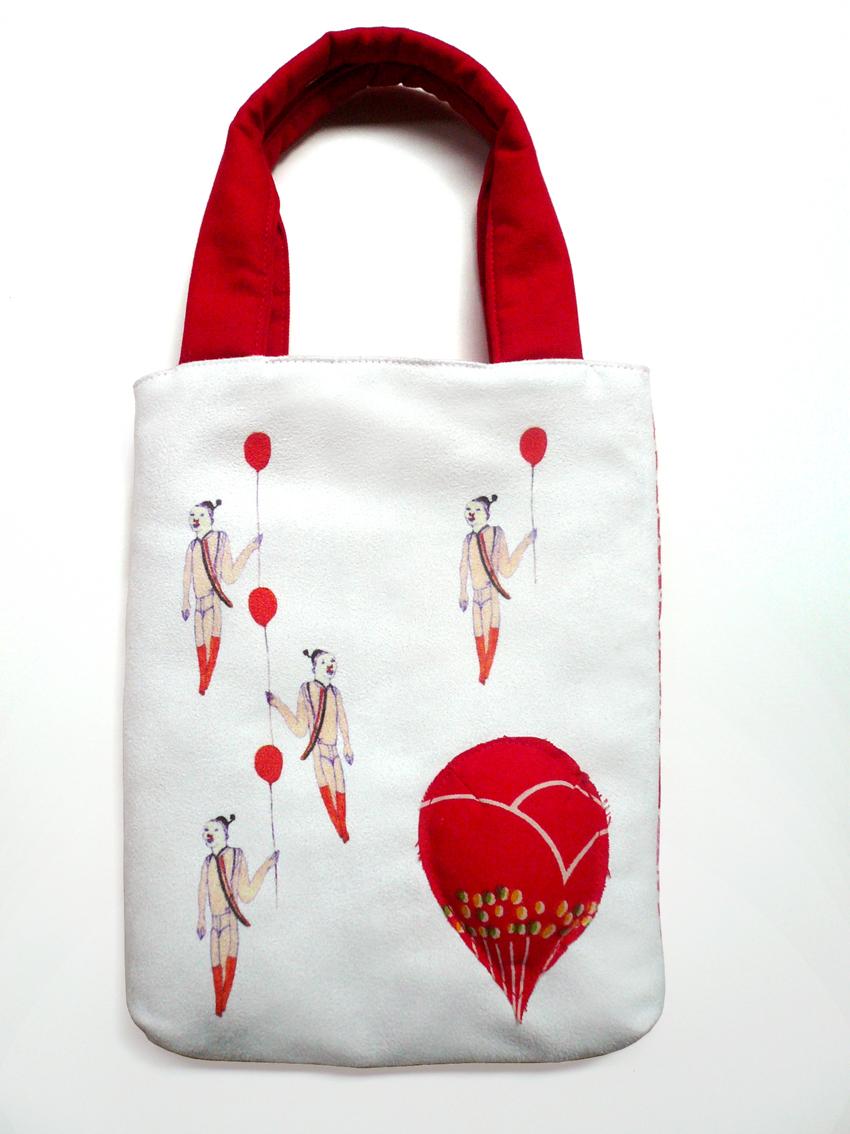 古花布氣球小手袋