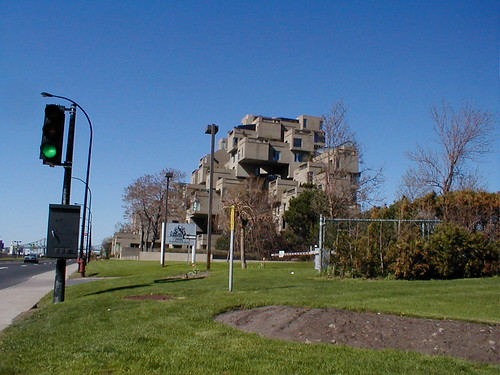 Habitat '67, view from South looking North