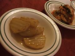 Potatoes and kimchi