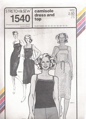 Stretch & Sew 1540 (Artdoodads.etsy) Tags: sewingpattern sewing pattern sew uncut craft crafts supply supplies fashion vintage stretchsew 1540 camisoledress camisole cami top dress annperson retro 1970s plussize