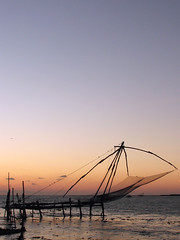 Chinese Fishing Net (Sangeeth VS) Tags: sunset sky india canon fishing dusk chinese kerala s2is nets cochin kochi chinesefishingnets sangeeth fortkochi fortcochin chinesefishingnet cheenavala