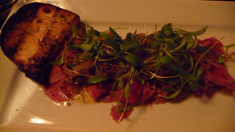Lamb pastrami at Char No. 4
