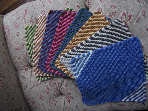 Fanned stripes