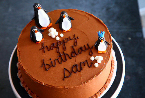 Sam's penguin cake