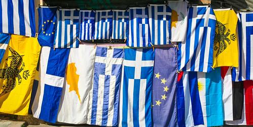 Flag Display, Athens by Sharon Mollerus, on Flickr