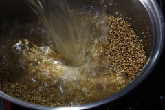 Steel-Cut Oatmeal - Adding the Boiling Water