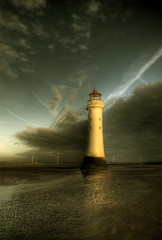 The right side of light.. (jetbluestone) Tags: winter lighthouse evening soe hdr newbrighton perchrock hdraward