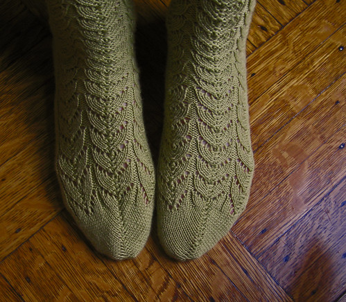 Green Lace Socks 9