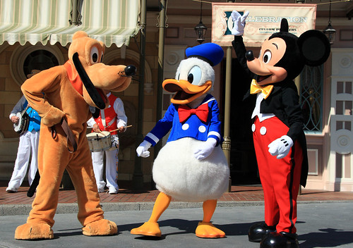 Disney Characters: Pluto, Donald and Mickey