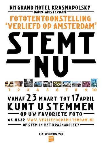 Poster voor verliefd op Amsterdam fotowedstrijd by you.