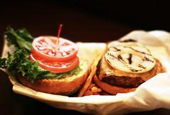 IMG_4442f (yugoroyd) Tags: food canon eos dof bokeh olympus 55mm hamburger 5d zuiko mountadapter