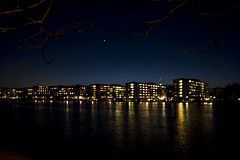 North Star (Mikael Colville-Andersen) Tags: light lake night copenhagen star stockphotos thelakes stockphotoscopenhagencitylife copenhagenstreetphotography
