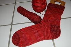Sock with Yarn