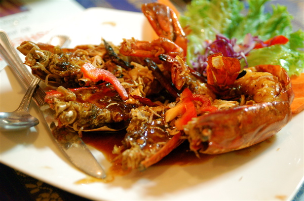 tiger shrimp with sweet tamarind sauce