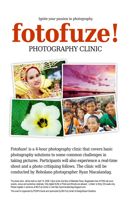 Foto Fuze! Photography Clinic in Tagbilaran City - Poster