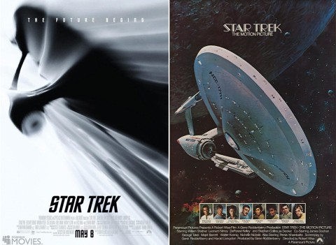 Star Trek Promo poster then and now, star trek wallpapers, startrek enterprise voyage, Star trek ships