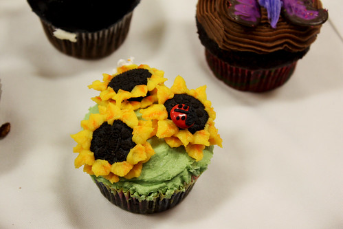 Sunflower Oreo Cupcake