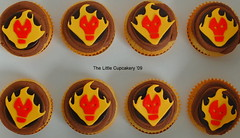Heatblast Cupcakes (Ben 10) (TheLittleCupcakery) Tags: birthday cake little ben 10 alien aliens tlc cupcakery fourarms heatblast klairescupcakes