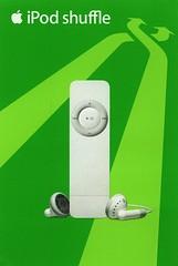 iPod shuffle 1gen - cartolina pubblicitaria