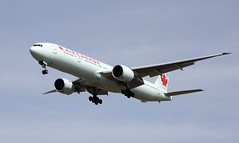 ACA #855 (troutwerks) Tags: vancouver sunday yvr aircanada planewatching b777300er lhryvr aca855