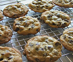 Chocolate Chip Overload Cookies - Cooling