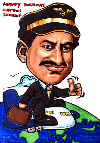 pilot caricature for Kelly Services