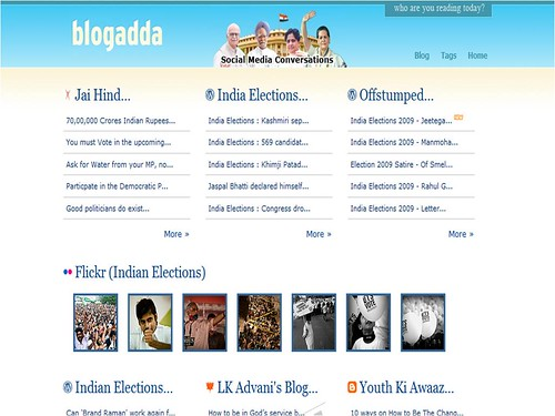 BlogAdda 2009 Indian Lok Sabha Elections Page