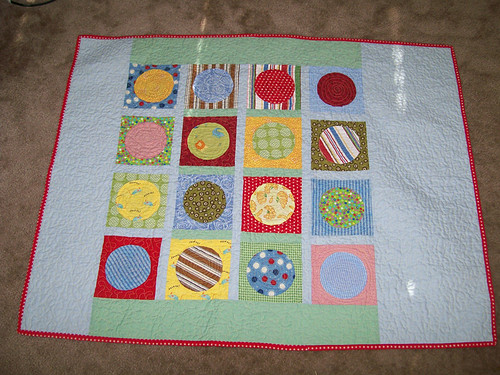 baby crib cirlcle quilt