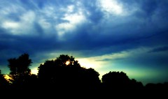 The Sunrise Peeking Through (mightyquinninwky) Tags: trees sky sun clouds sunrise geotagged highway colours kentucky earlymorning silhouettes award invite cloudysky orton invited sideoftheroad mywinners mywinner goingtomiddlesborokentucky southeasternkentucky bellcountykentucky geo:lat=37533143 geo:lon=84318523 bestofformyspacestation